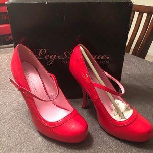 *NIB* Leg Avenue Shoe Collection Babydoll Red